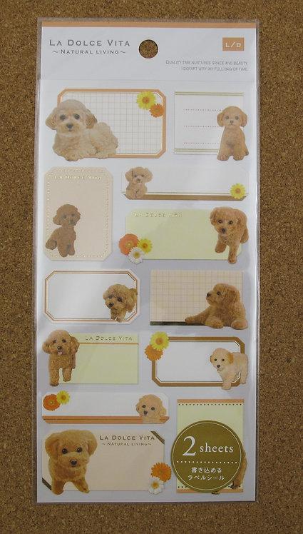 D00586 La Dolce Vita 貴婦犬標貼