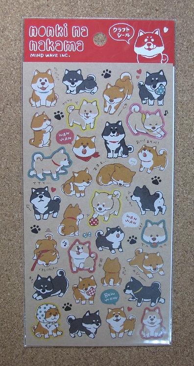 D00802 nonki na nakama 柴犬貼紙