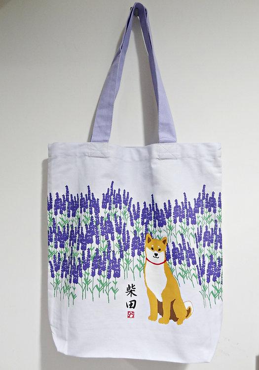 D01799 _45 柴田tote bag(ラベンダーしばた)