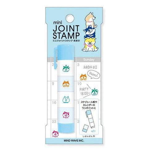 D02362_1 Shibanban Mini Joint Stamp_粉藍