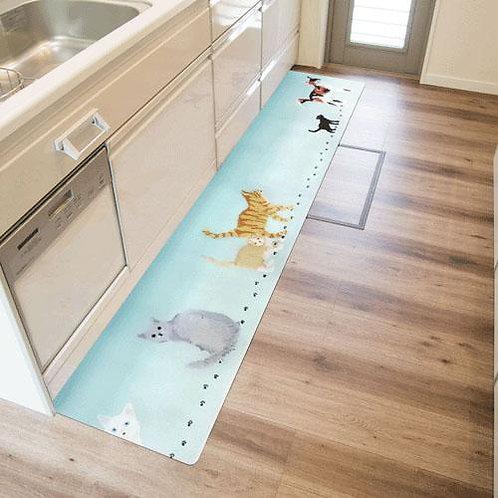 755-837 拭ける北欧風キッチンマット45×240cm ミャオ