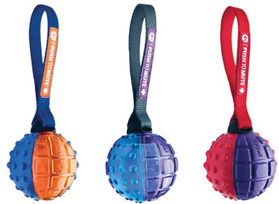 D02413 PUSH TO MUTE - Ball w/Strap 3in