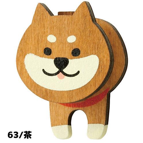 D02385_2 Wankoron柴犬磁石memo夾_赤