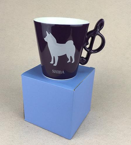 D01283_3 Wankore 冬季限定音符杯 - 柴犬 (深紫)