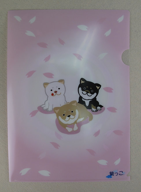 D00377 黑柴堂A4 file (I Love Shiba)