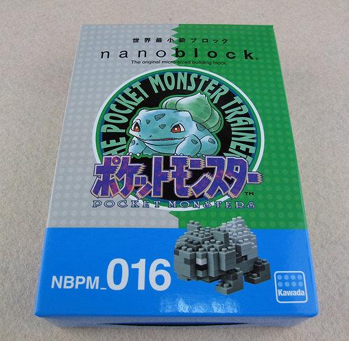 nanoblock NBPM_016 Pokemon Fushigidane Monotone