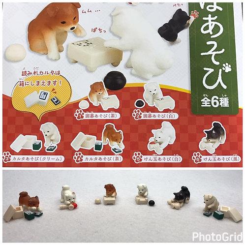 D01745 柴犬玩樂扭蛋(一套六隻)