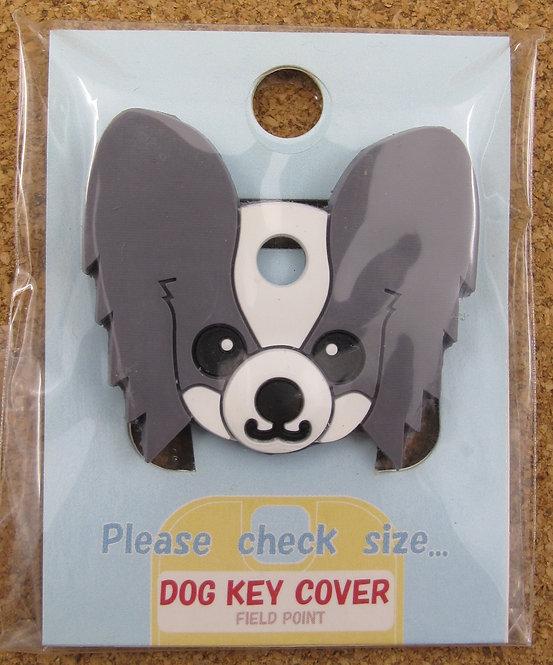 D00356 狗狗匙套 Dog Key Cover 蝴碟犬(灰)
