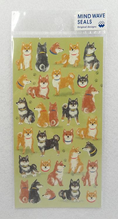 D01443 Mind Wave Seals - 柴犬貼紙 (77845)