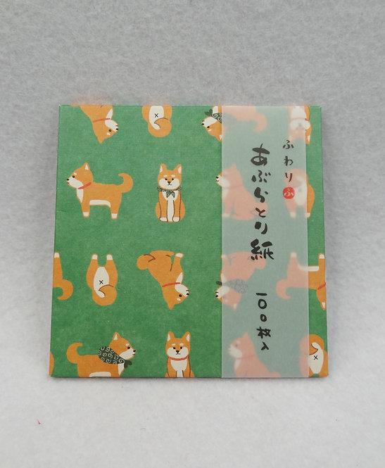 D01934 柴犬面油紙