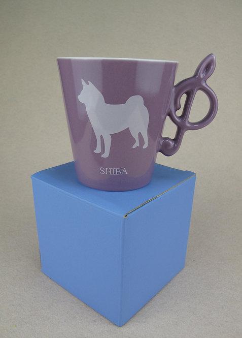 D01283_1 Wankore 冬季限定音符杯 - 柴犬 (粉紫)