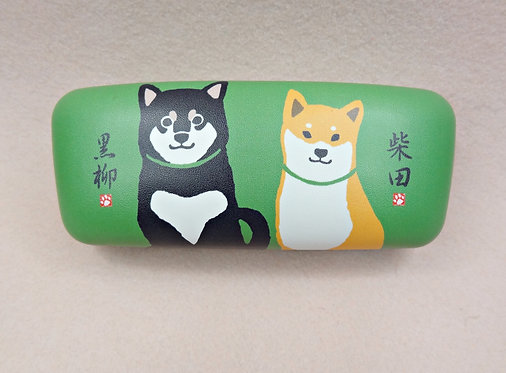 D01642_8 柴田眼鏡盒 (綠色赤黑柴)