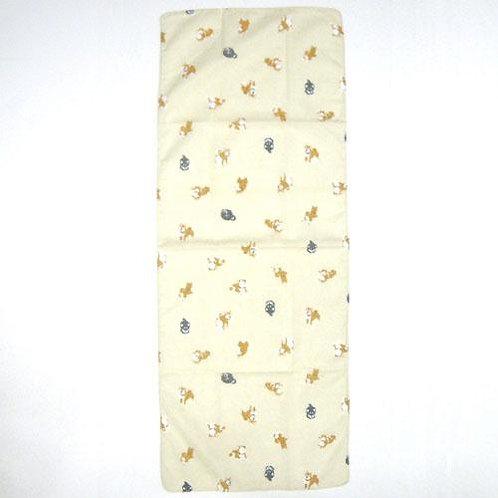 D02339_2 柴犬薄棉巾_米