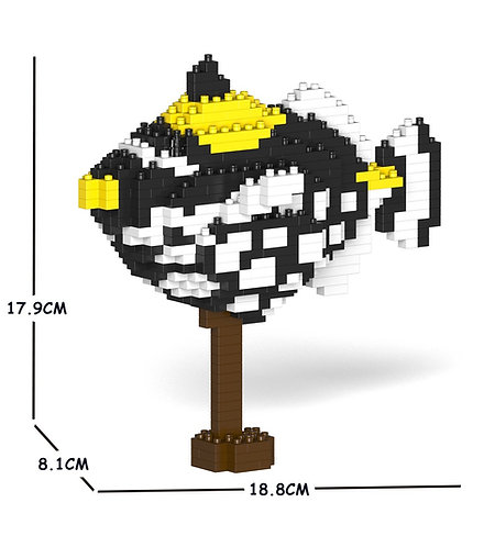 Jekca 花斑擬鱗魨 Clown Triggerfish 01S (需訂貨)