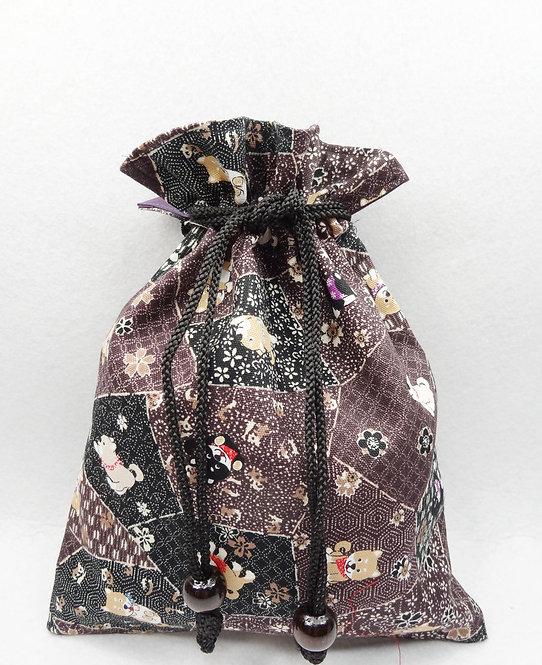 D02116_2 和風三色柴束口袋_紫色