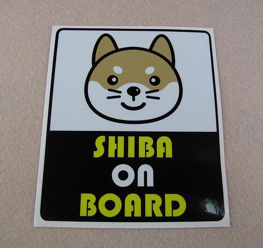 "D01437_1 ""Shiba on Borad"" 赤柴車貼"
