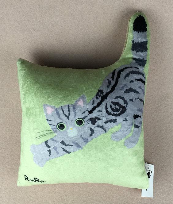 D00935 RonRon貓貓抱枕 (灰色)