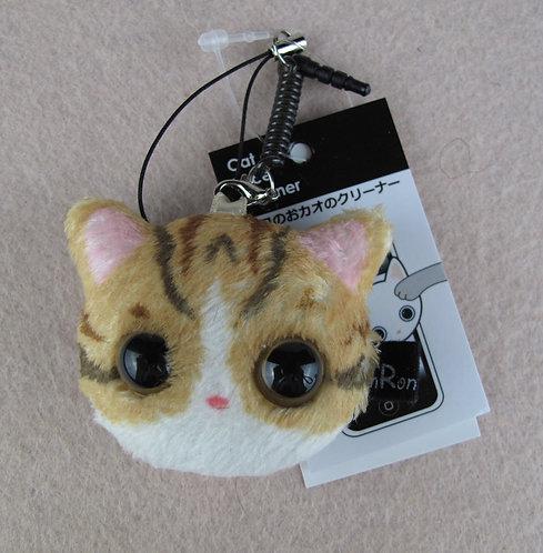D00902 貓貓螢幕清潔掛飾 / 防塵塞 (淺啡)