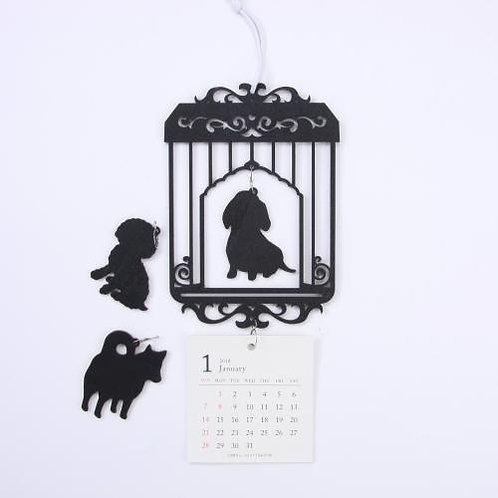 D02132 2018 木框掛牆月曆