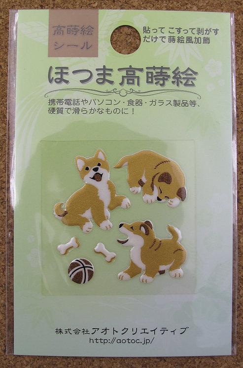 D00354 高蒔絵 柴犬