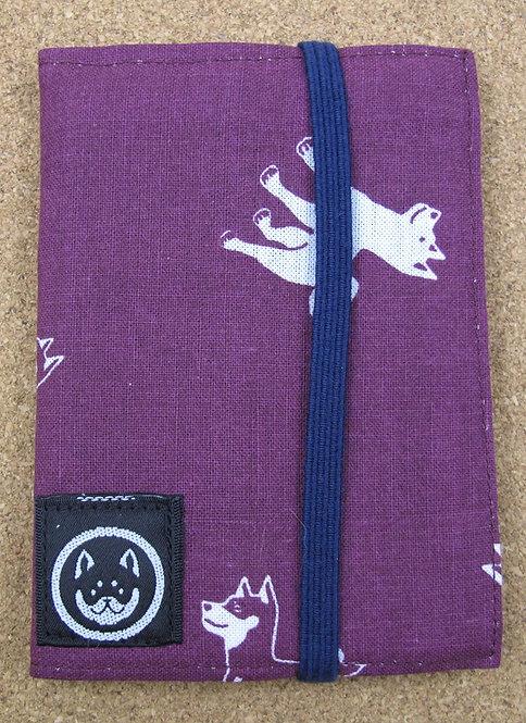 D00498 黑柴堂紫色咭片包