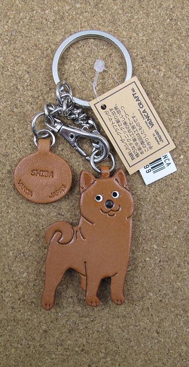 D00521 Vanca 柴犬皮革匙扣