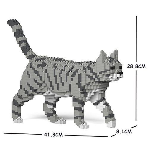 Grey Tabby Cat (lighter) 03S-M03  (需訂貨)