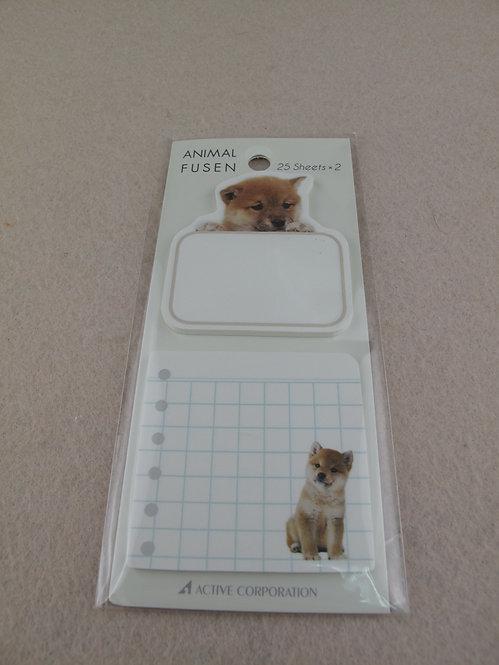 D01669_1 Animal Fusen 柴犬memo