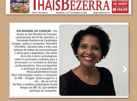 Setembro do Coração no caderno de Thaïs Bezerra (Jornal da Cidade)