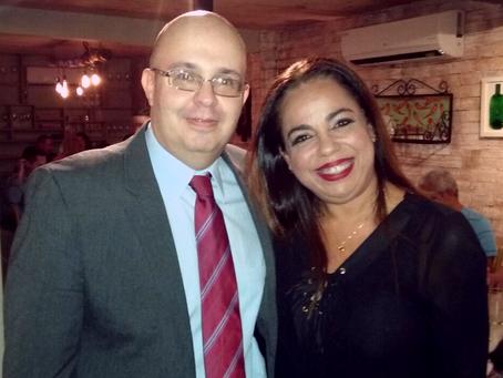 A presidente da SBC/SE participa de encontro com endocrinologista do Rio de Janeiro.