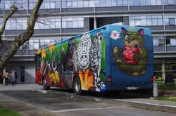 Le Ludo Bus à l'hotel région Bretagne