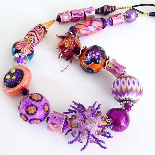 Funky Purple Necklace