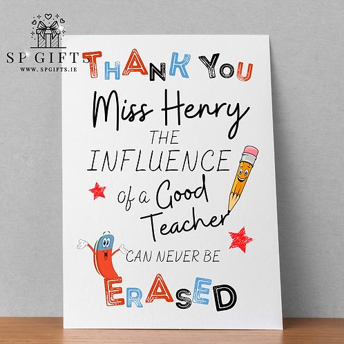 The Influence of a Good Teacher A4 Print