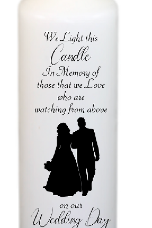 Silhouette Couple 201 Memorial Candle