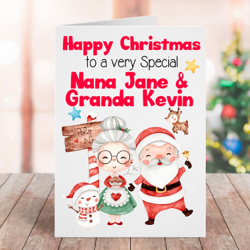 Personalised Grandparents Card Style C