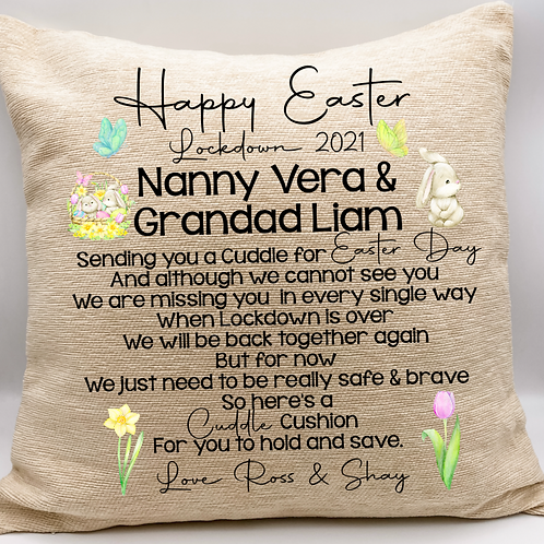 Lockdown Easter Cushion