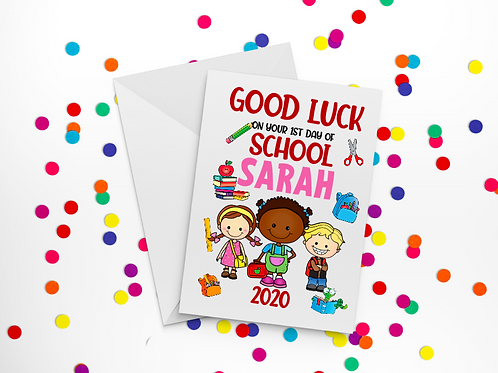 First Day of School Card C