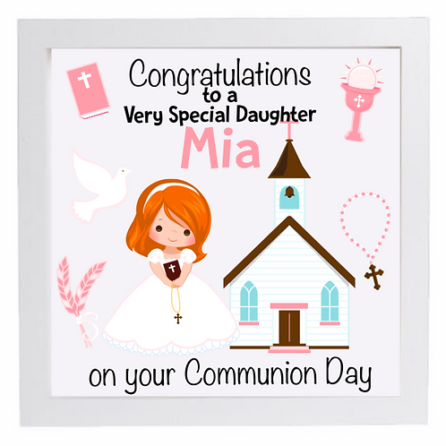 Personalised Communion Frame