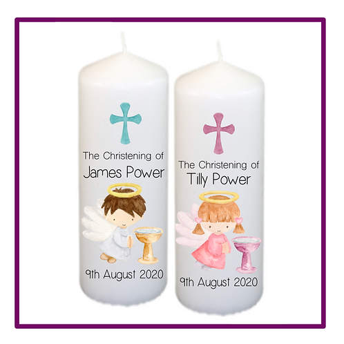 Sweet Angel Christening Candle