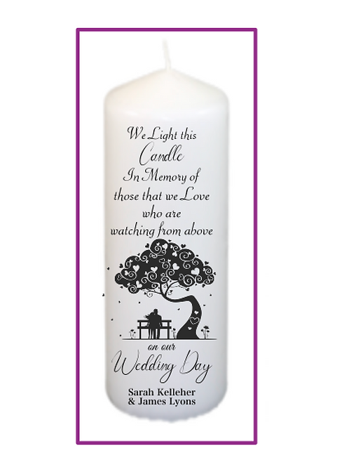 Bench of Love Memorial Candle