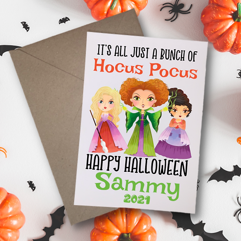 Its Just a Bunch of Hocus Pocus Card