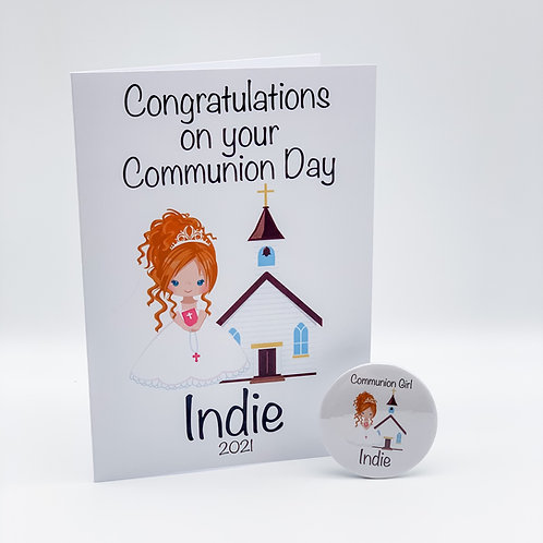 Communion Card and Badge
