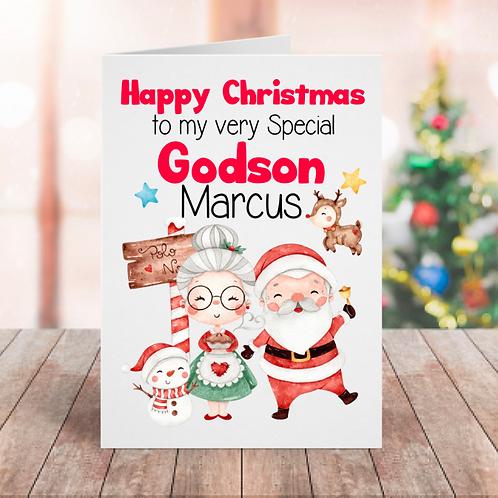 Christmas Godson Card