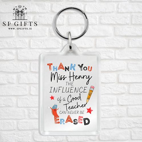 The Influence of a Good Teacher Keyring