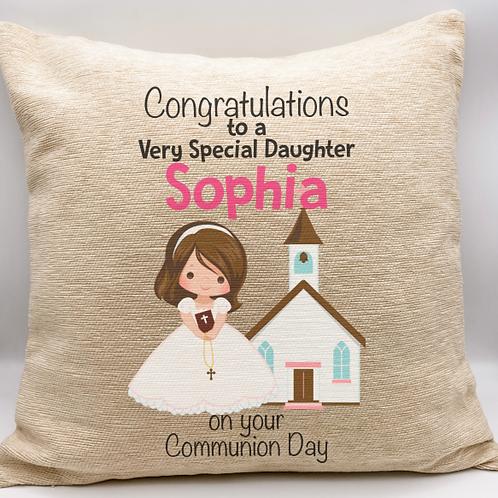 Personalised Communion Cushion