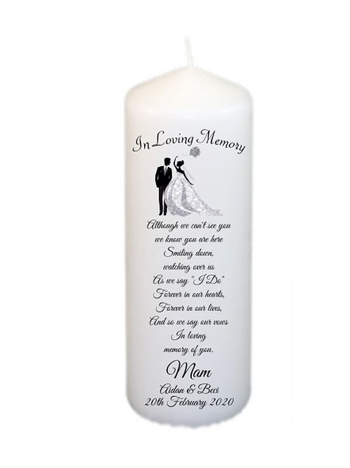 Couple Memorial Candle