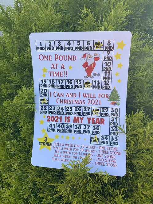 Christmas 2021 Slimming Chart - 3 Stone