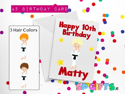 Boys Martial Arts Birthday Card
