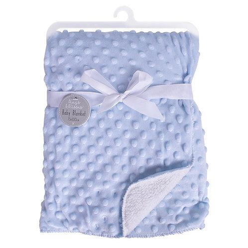 Bubble Mink Sherpa Baby Blanket -Blue