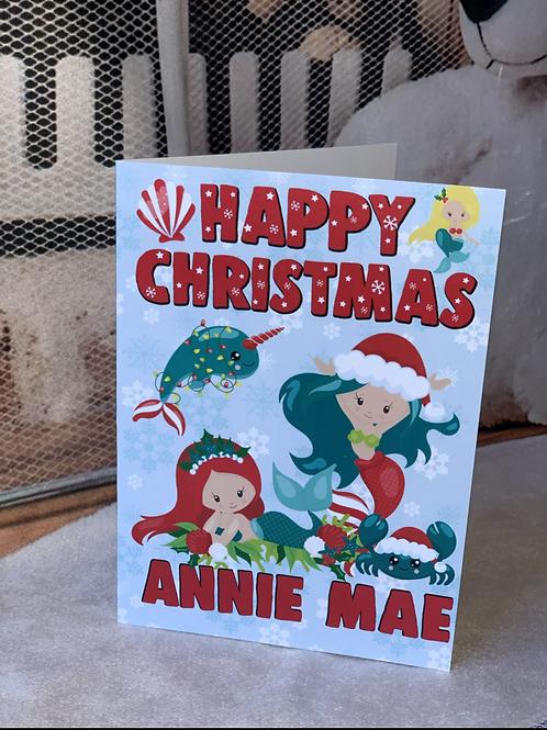 Mermaids Christmas Card